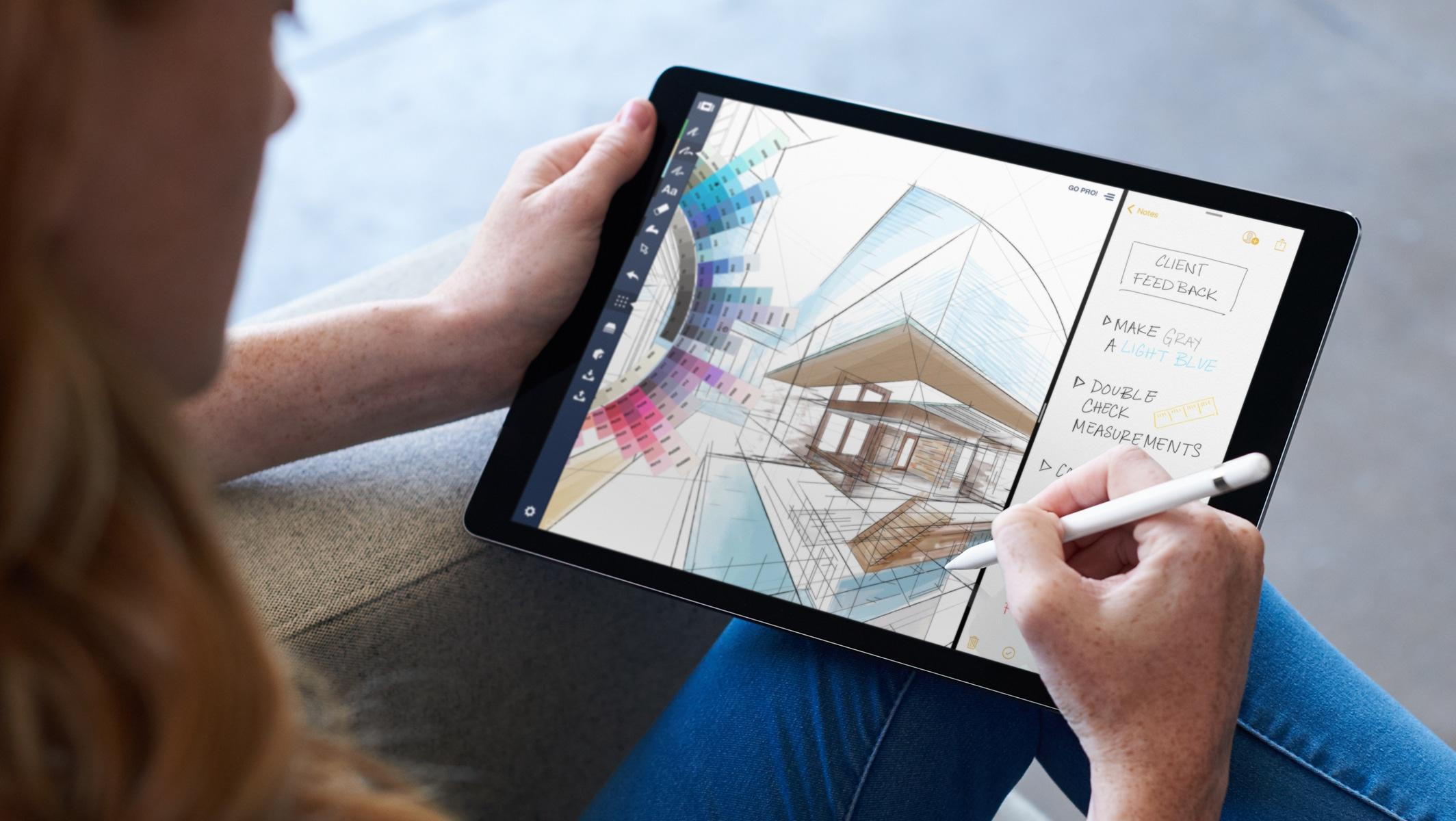 Apple Pencil on iPad Pro with iOS 11