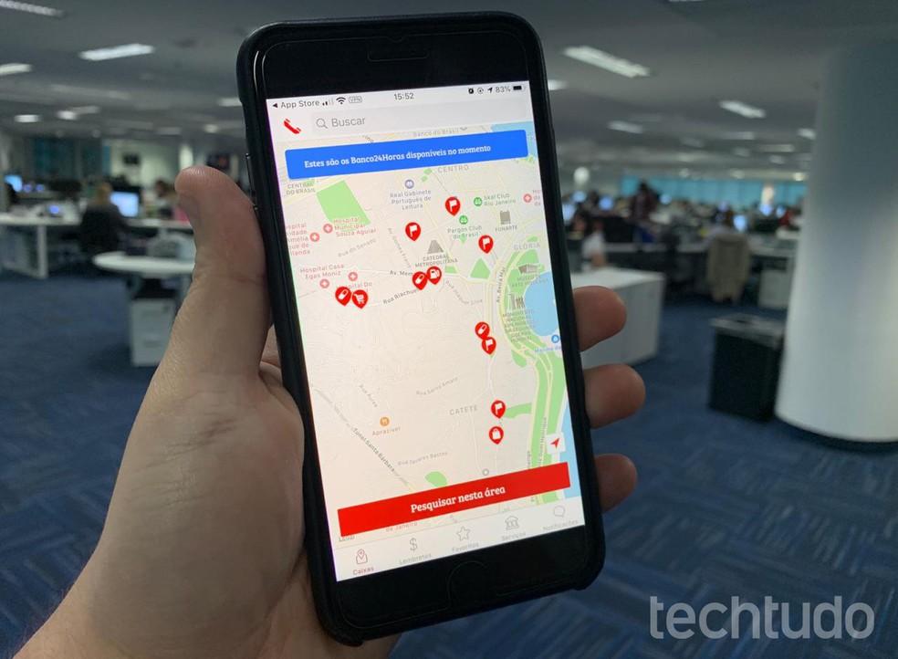 Users may request Digital Cashout through Banco24Horas app Photo: Rubens Achilles / TechTudo