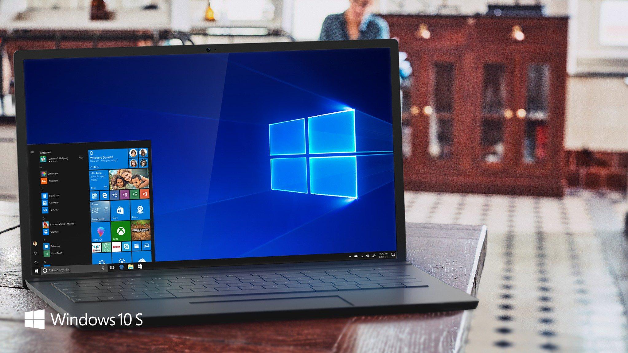 Computer running Windows 10 S
