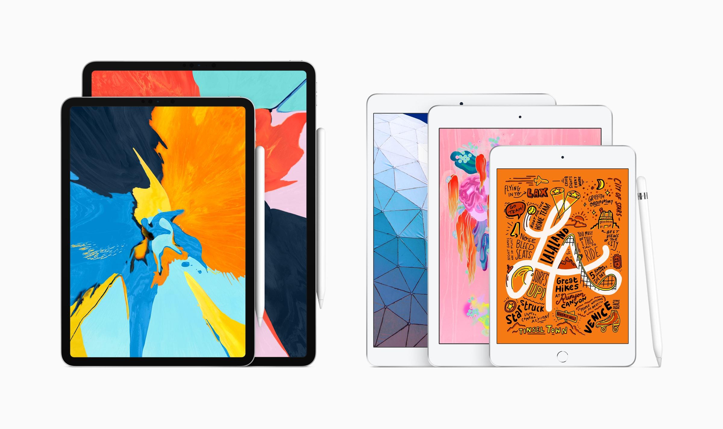 New line of iPads Pro, iPad Air, iPad and iPad mini