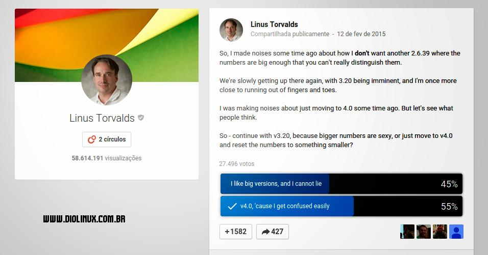Linus Torvalds on Google Plus