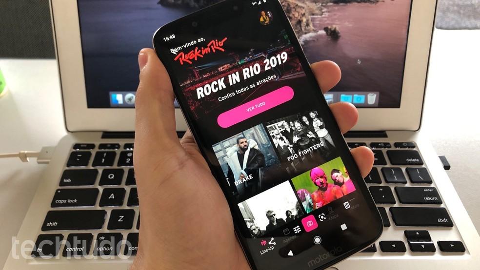 Learn how to use the Rock In Rio 2019 app Photo: Reproduo / Helito Beggiora