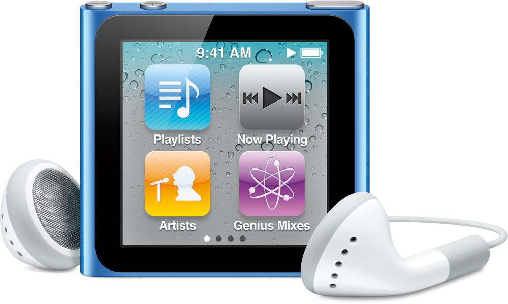 iPod nano blue, front