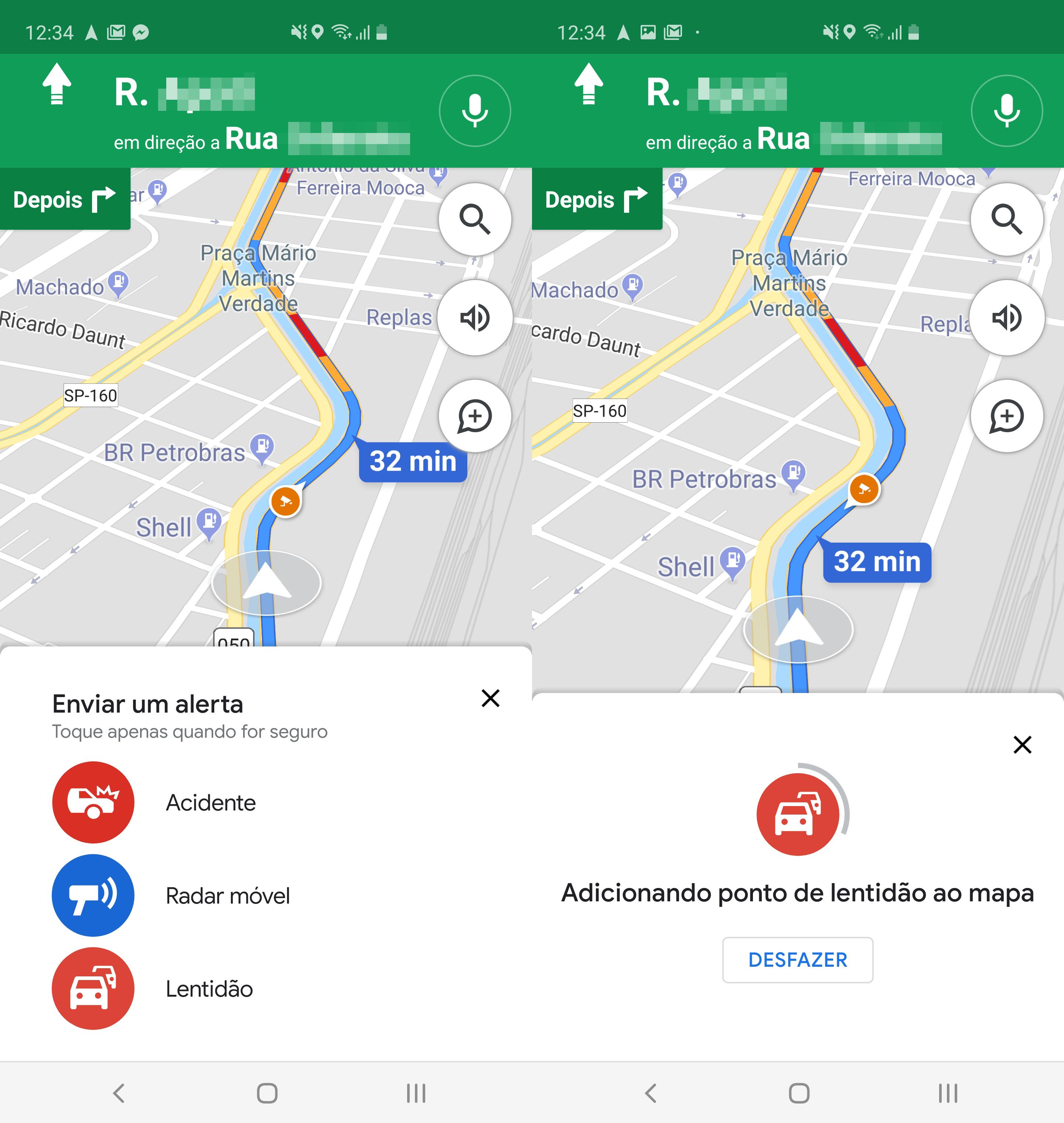 Option to warn slow traffic on Google Maps
