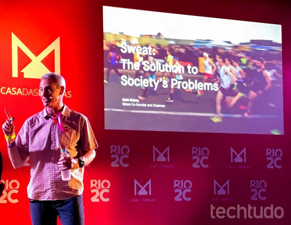 Mark Gainey, Strava cofounder at Rio2C 2019 Photo: Pedro Vital / TechTudo