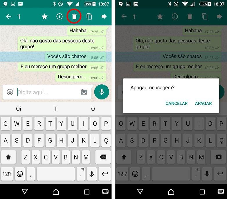 whatsapp remove message