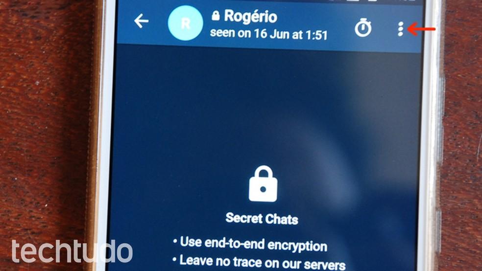 Telegram X Secret Chat Main Menu Photo: Raquel Freire / dnetc