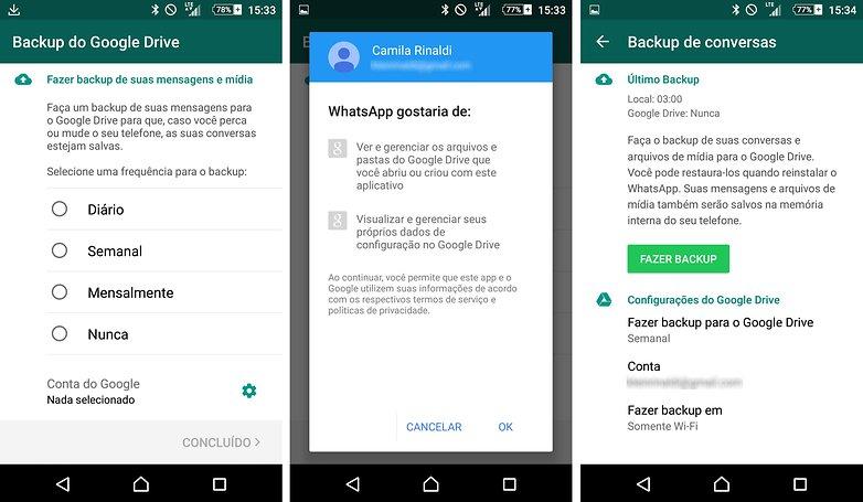backup google drive whatsapp
