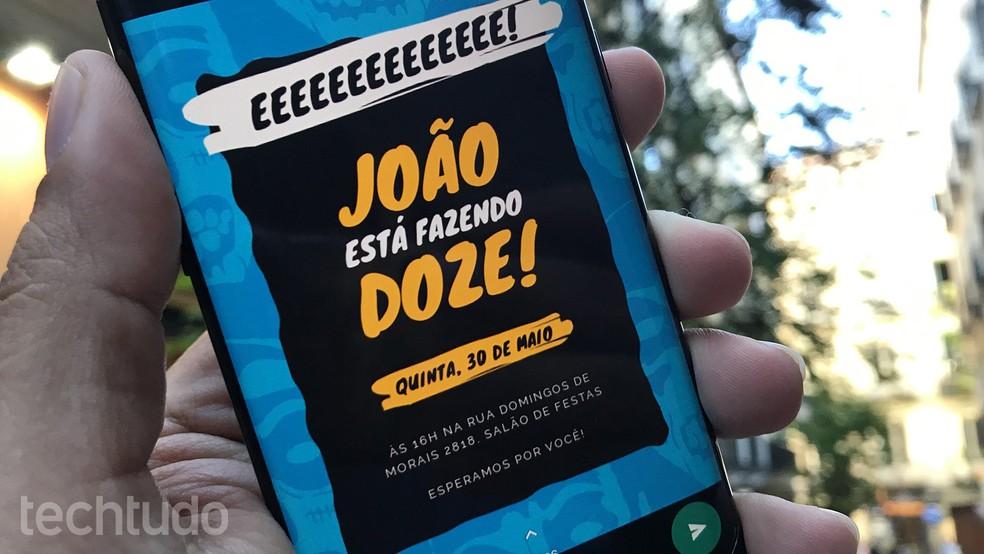 Learn how to create mobile invitation to send via WhatsApp Photo: Paulo Alves / dnetc