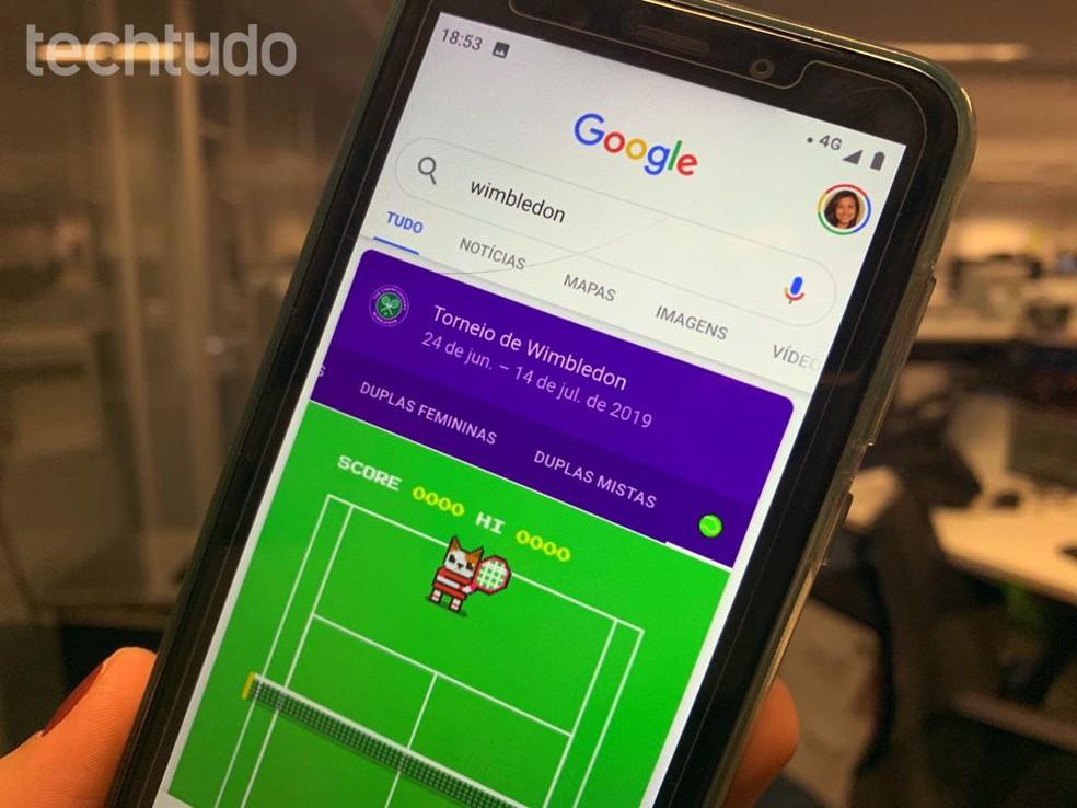Wimbledon Tournament Wins Hidden Game on Google Photo: Nicolly Vimercate / TechTudo