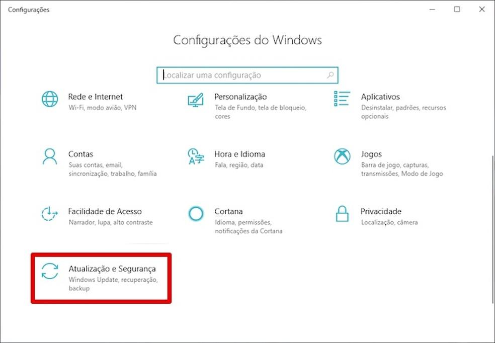 Open Windows Update Photo: Reproduo / Helito Bijora