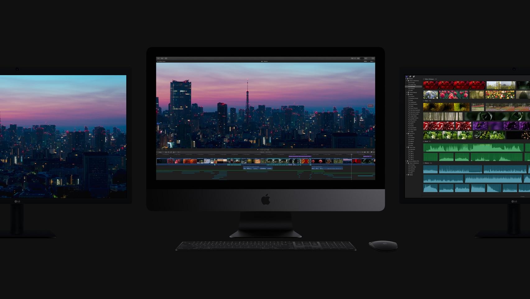 iMacs Pro facing the dark