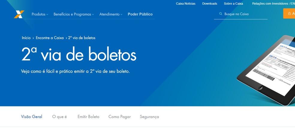 Visit the Caixa Economica website, seo customer service, and then duplicate bill of exchange. Photo: Photo: Reproduction / Leonardo Bigio