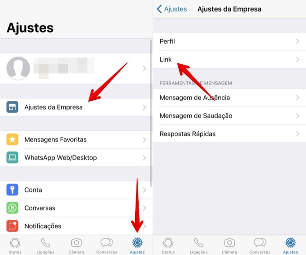 Access WhatsApp Business Settings Photo: Reproduction / Helito Beggiora