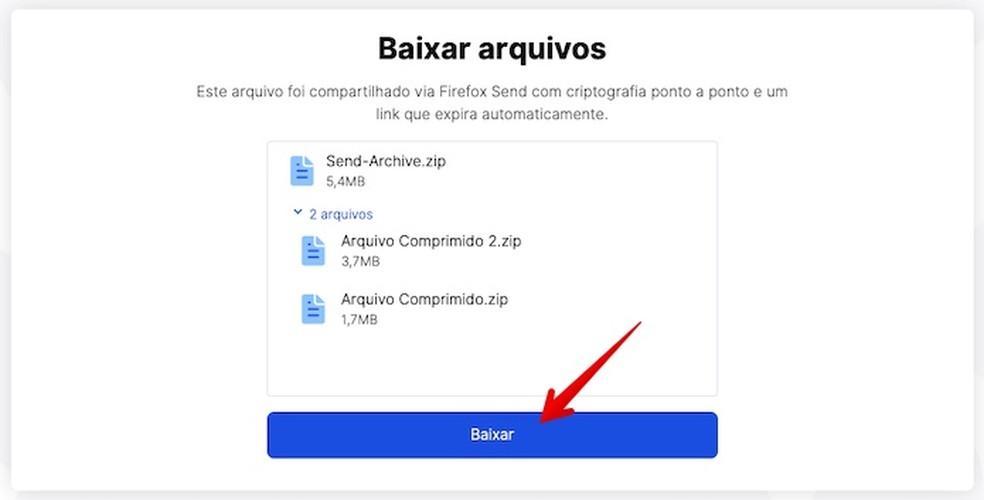 Downloading Files in Firefox Send Photo: Play / Helito Beggiora