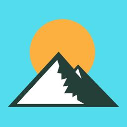 Altimeter GPS app icon - Hike & Trek