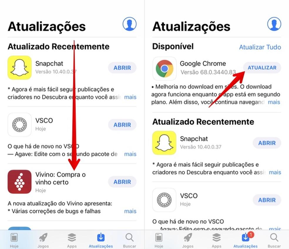 Updating iPhone Applications Photo: Reproduction / Helito Bijora