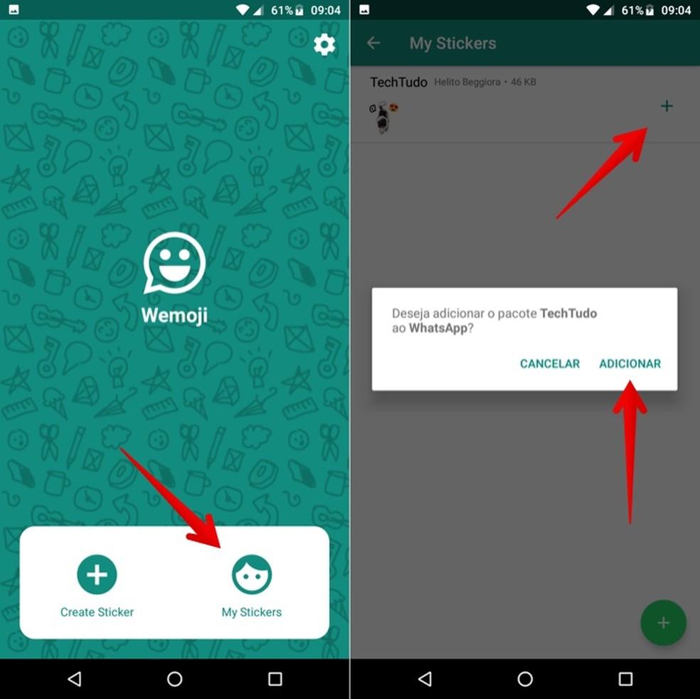 Add Wemoji-created sticker pack to WhatsApp Photo: Reproduo / Helito Beggiora