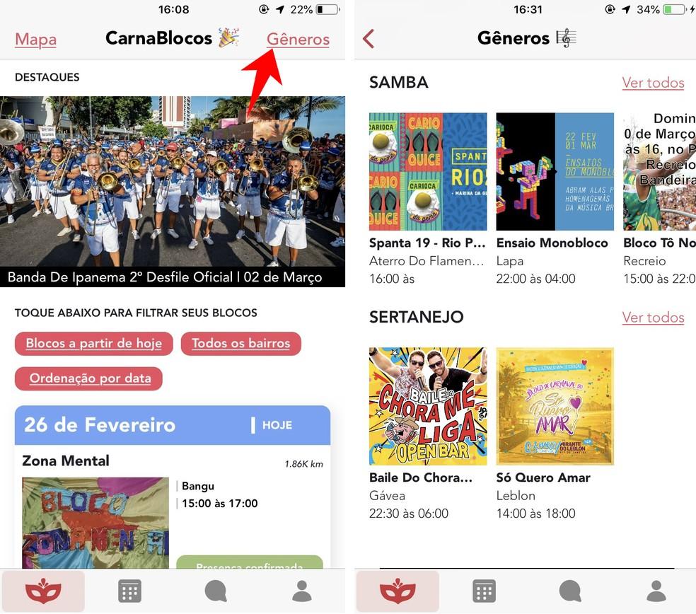 Search CarnaBlocos Blocks by Music Genre Photo: Reproduo / Rodrigo Fernandes