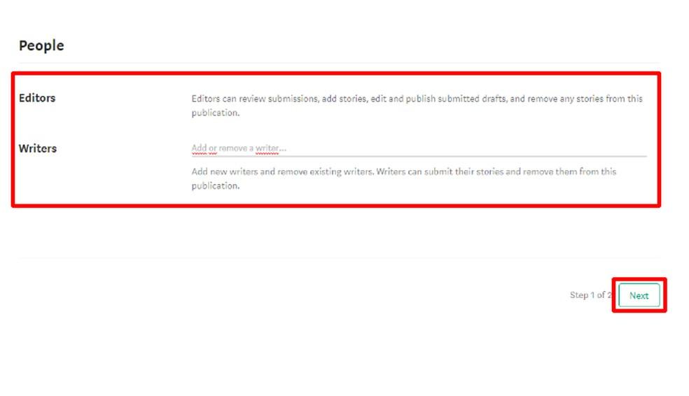 Enter the Medium user contact that will be collaborators and press Next Photo: Reproduo / Daniel Ribeiro