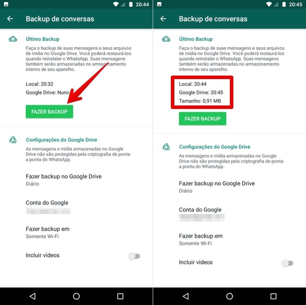 Update or create a backup of Google Drive Photo: Play / Helito Beggiora