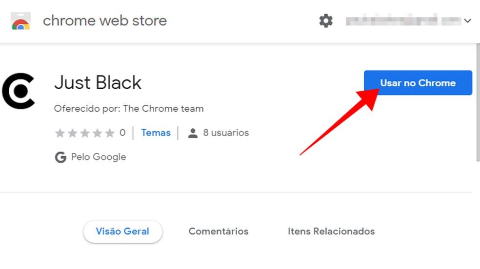 Install a theme in Google Chrome Photo: Reproduo / Paulo Alves