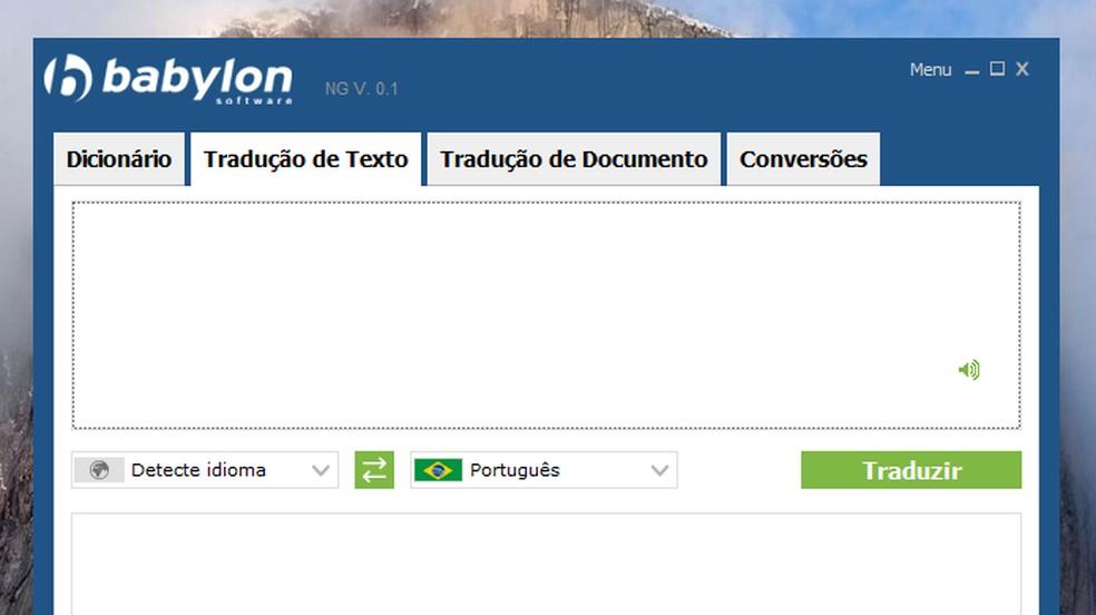 Babylon translator works offline on computer Photo: Reproduo / Paulo Alves