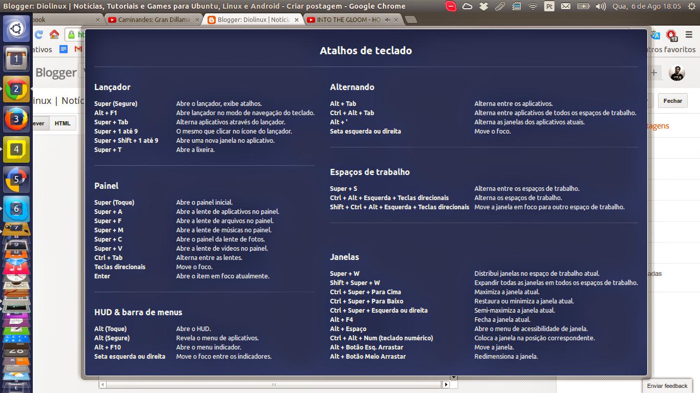 Ubuntu shortcuts