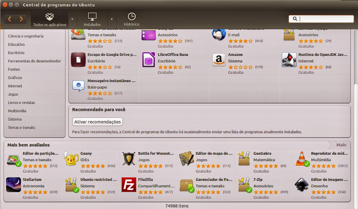 Ubuntu Program Center