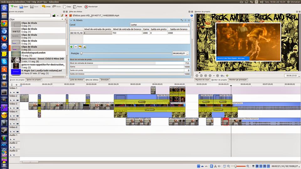 Kdenlive, best video editor for Linux