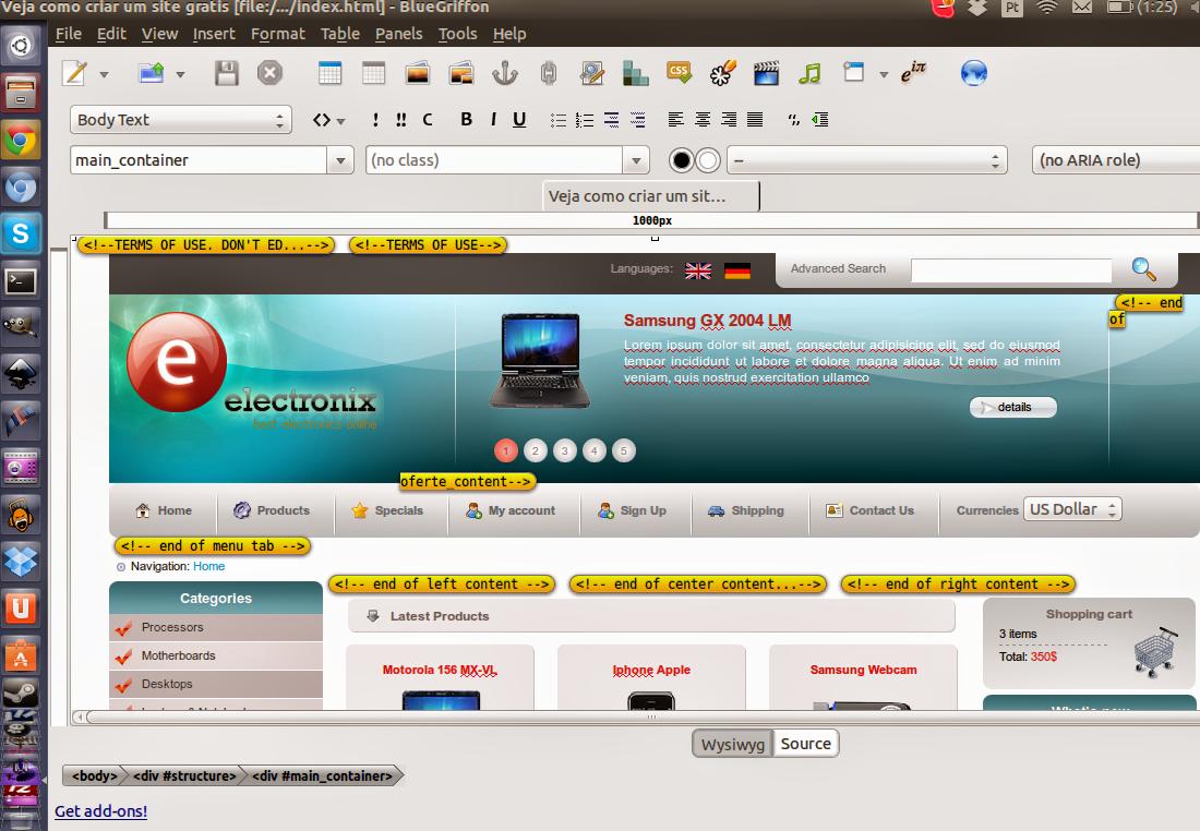 BlueGriffon, Dreamweaver Alternative for Linux