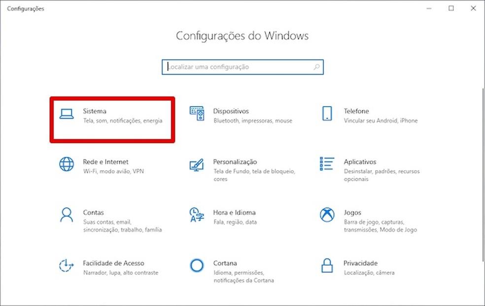 Access Windows 10 Settings Photo: Playback / Helito Beggiora