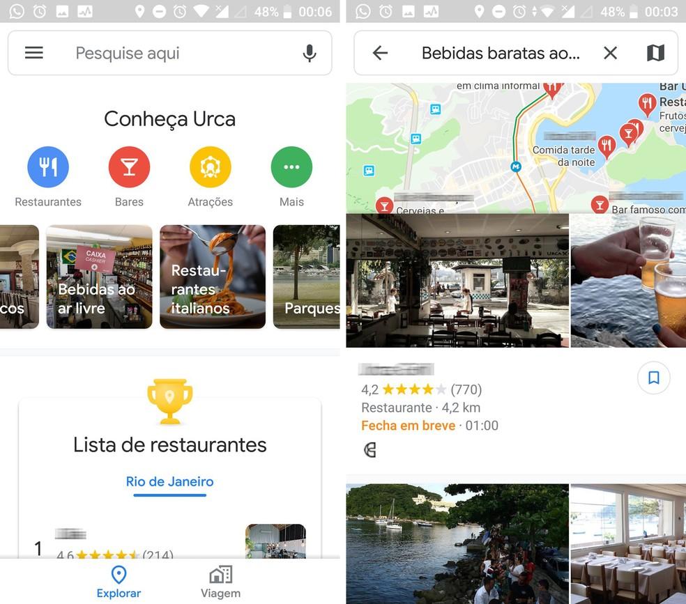 Google Maps an application for travel routes Photo: Reproduo / TechTudo