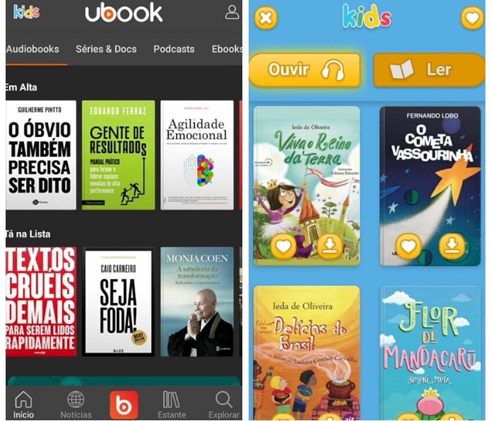 In addition to providing free audiobooks, Ubook has a personalized version of audio books for children Photo: Reproduo / Graziela Silva