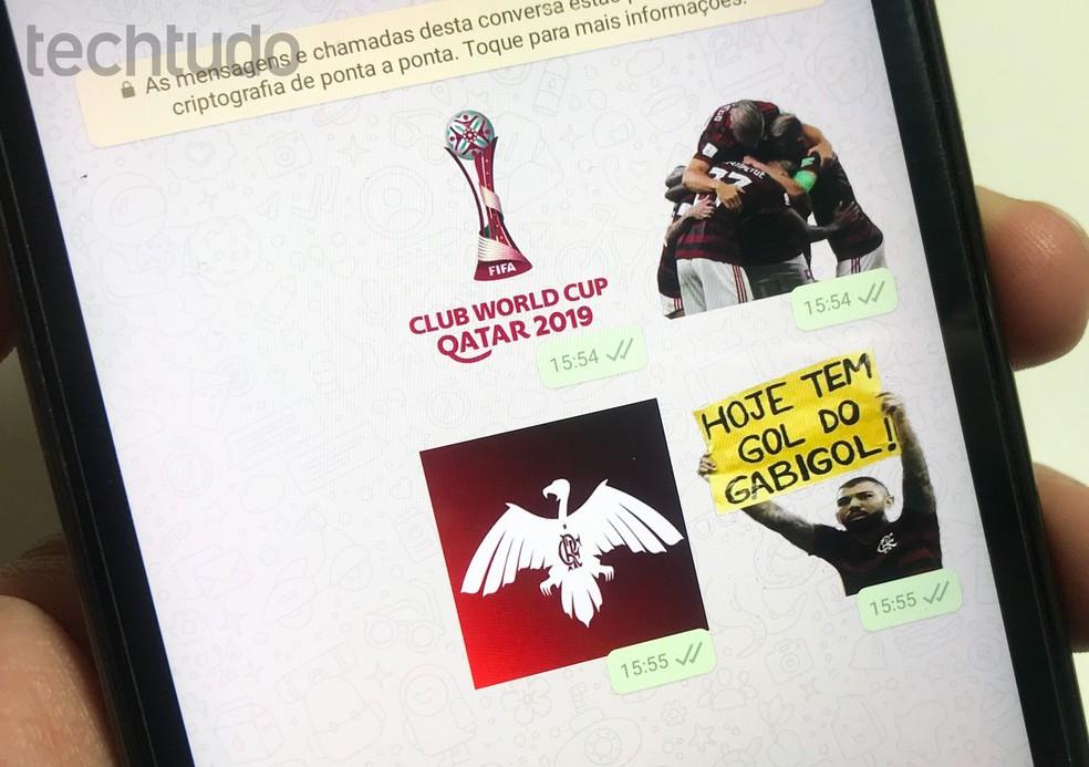 Flamengo stickers for WhatsApp: see apps with emojis Photo: Rodrigo Fernandes / TechTudo