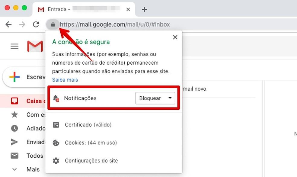 Disabling notifications in Chrome Photo: Reproduo / Helito Beggiora