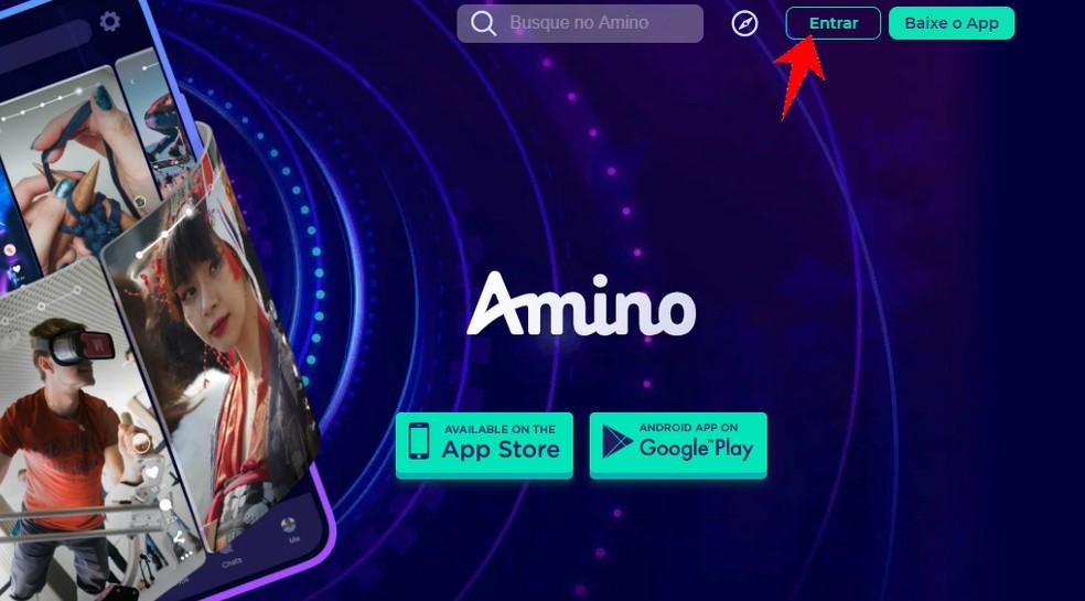 Starting PC Amino registration Photo: Reproduo / Rodrigo Fernandes