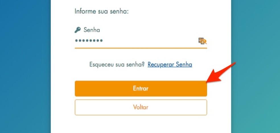 By entering the password to enter the site Loterias da Caixa Photo: Reproduo / Marvin Costa