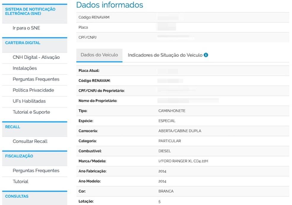 Consulting vehicle data Photo: Reproduo / Helito Beggiora