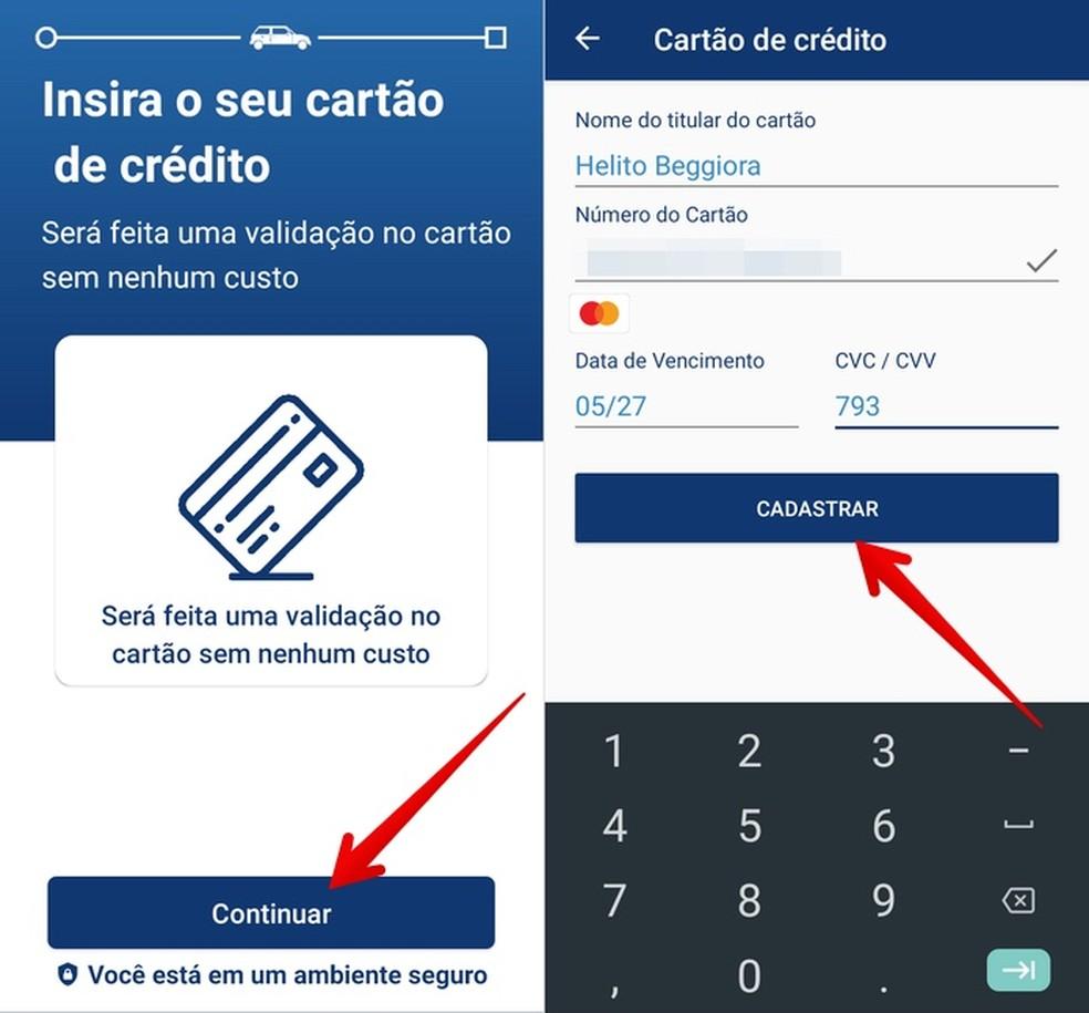 Register your credit card Photo: Reproduo / Helito Beggiora