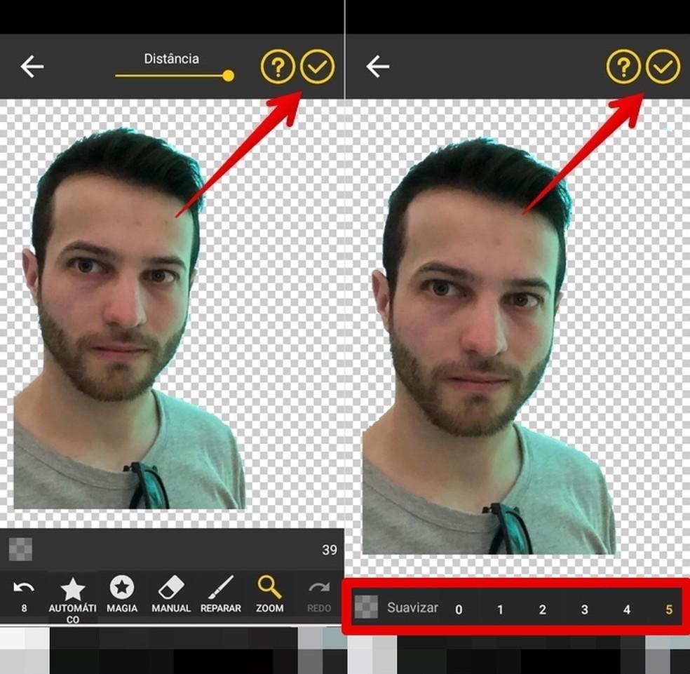 Adjusting image smoothing Photo: Reproduction / Helito Beggiora