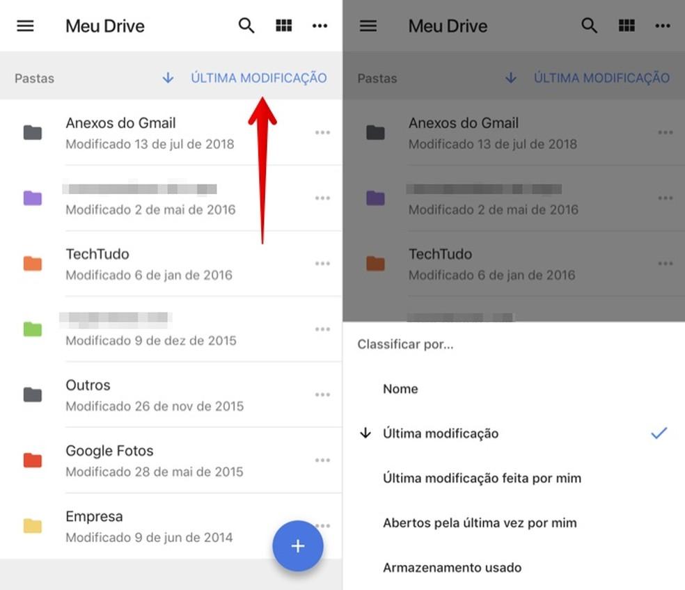 Change the classification of files in Google Drive Photo: Reproduo / Helito Beggiora
