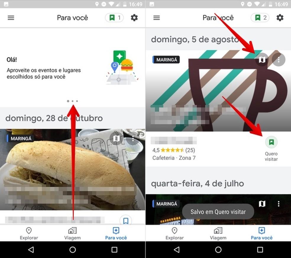 Save location on Google Maps interest list Photo: Reproduo / Helito Beggiora