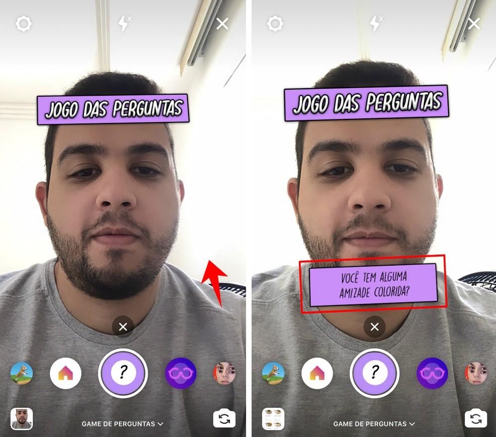 Instagram Questions Game shows questions randomly Photo: Reproduo / Rodrigo Fernandes