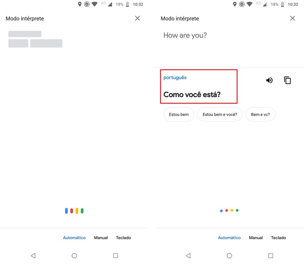Google Assistant translates conversations from 44 languages ??Photo: Reproduo / Rodrigo Fernandes