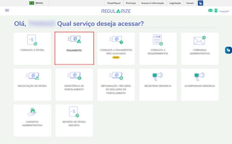 Click on the second option services panel Photo: Reproduo / Thiago Siqueira