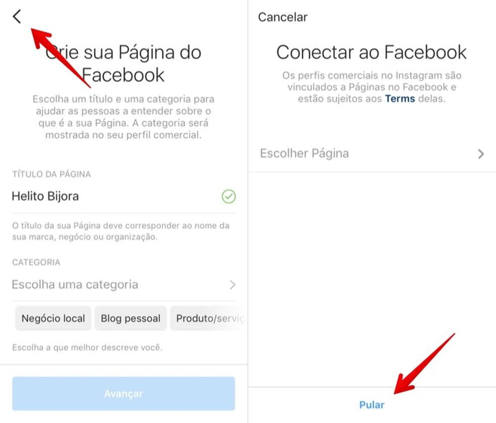 Creating optional Facebook page Photo: Reproduo / Helito Beggiora