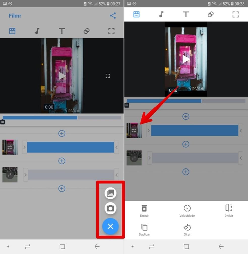 Adding and editing imported videos Photo: Reproduo / Helito Beggiora