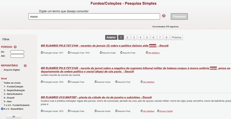Search results in SIAN Foto: Reproduo / Helito Beggiora