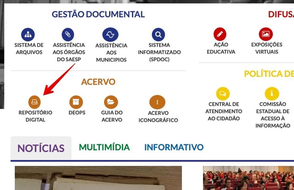 Access the repository of the Public Archive of SP Photo: Reproduo / Helito Beggiora